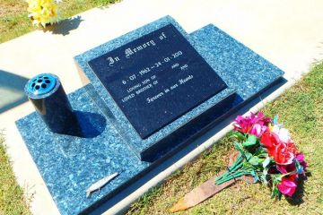Blue-Pearl-Lay-Down-Headstone-and-Base