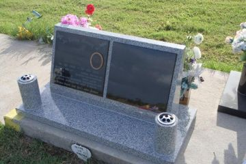 Double-China-Grey-Granite-headstone-basr-with-2x-vases