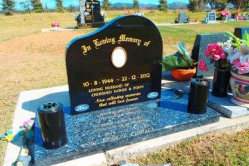 Special-Order-Black-Headstone-Blue-Pearl-Base-500x